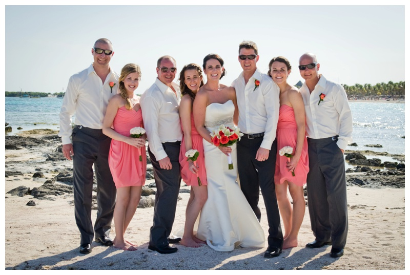 Beach Wedding Party Photography Mexico