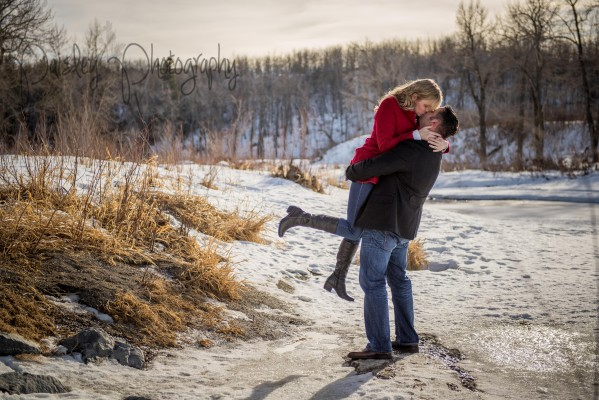 Jesse+Michelle Winter Fishcreek Engagement – Calgary Engagement Photographer