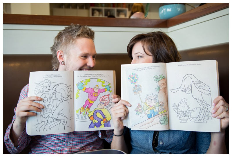 Colouring Book Engagement Photography