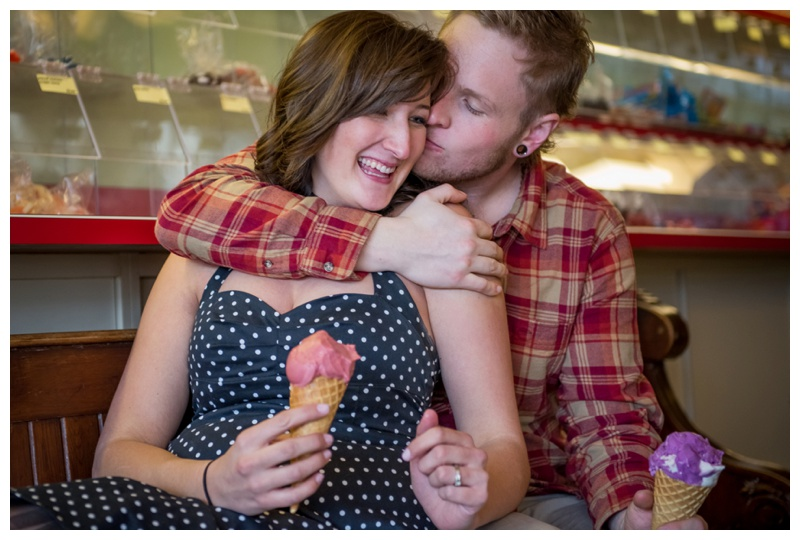 Ice-cream Shop Engagement Photography