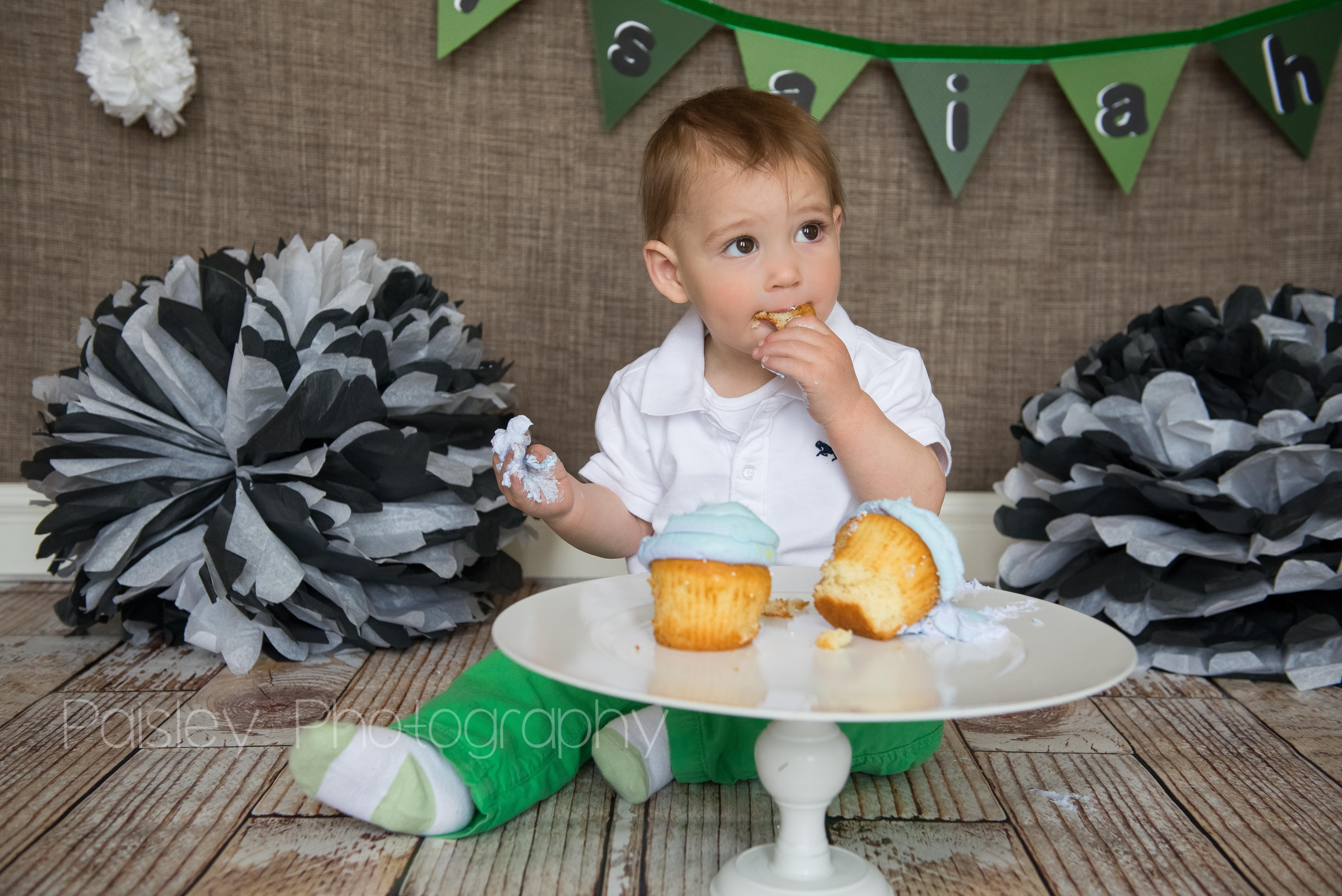 Boy Cake Smash Photography Airdrie