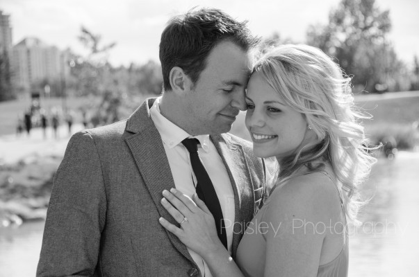 A+B's Prince's Island Park Engagement- Calgary Engagement Photographer