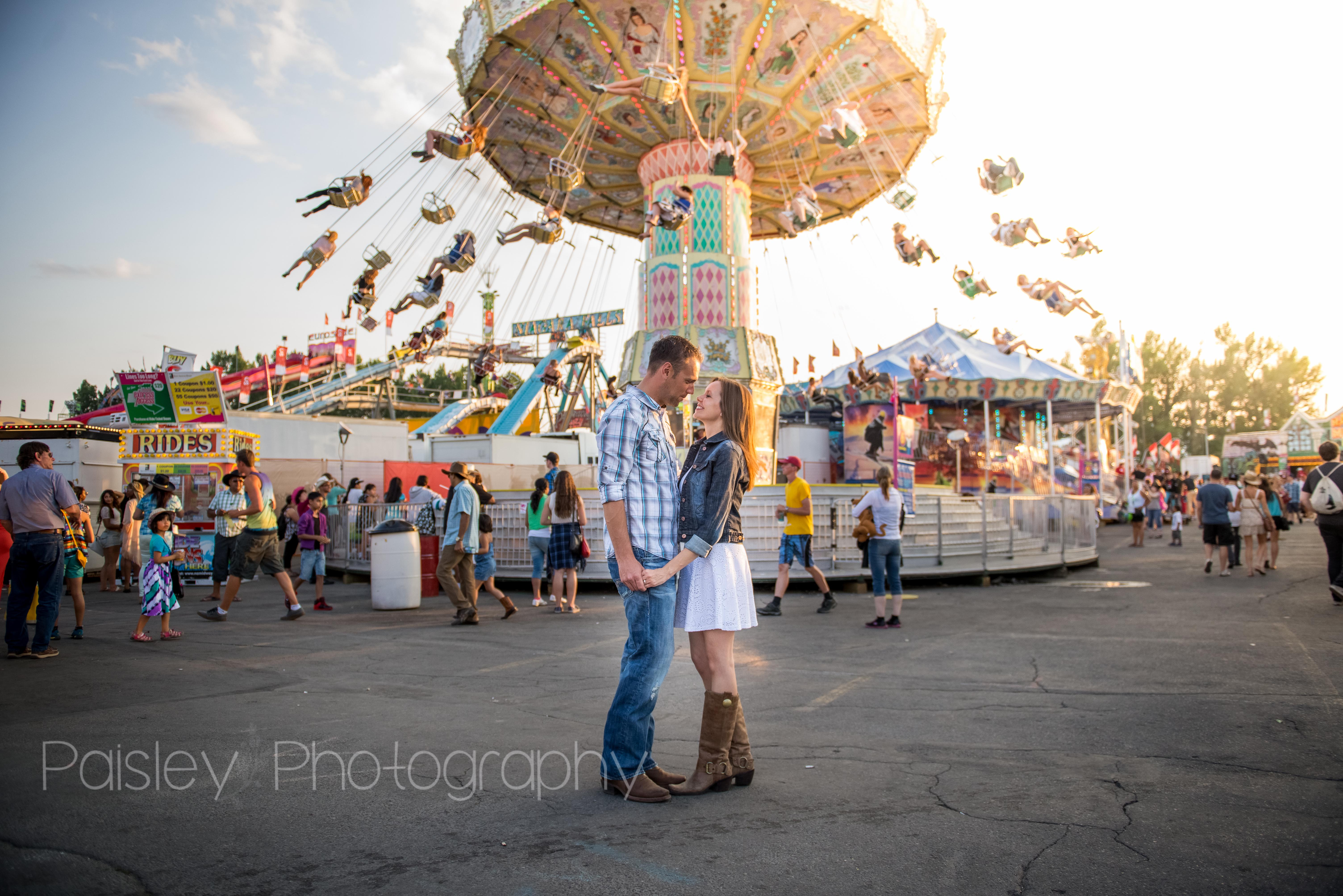 Calgary Stampede Engagement Photo