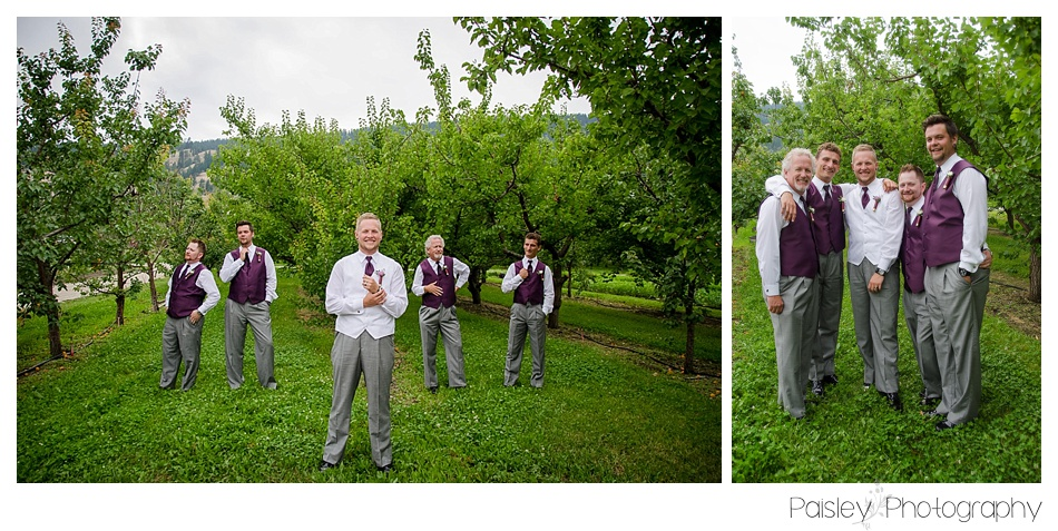 Groomsmen Photography, Shotgun Shell Boutonnieres, Kelowna Orchard Wedding, Orchard Wedding, Kelowna Wedding Photographer, Vernon Wedding Photographer, Calgary Wedding Photographer
