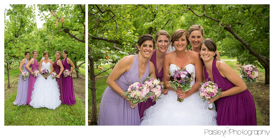 Ombre Bridesmaid Dresses, Purple Bridesmaid Dresses, Orchard Bridesmaid Photography, Kelowna Wedding, Vernon Wedding, Kelowna Wedding Photography, Kelowna Wedding Photographer, Calgary Wedding Photographer,