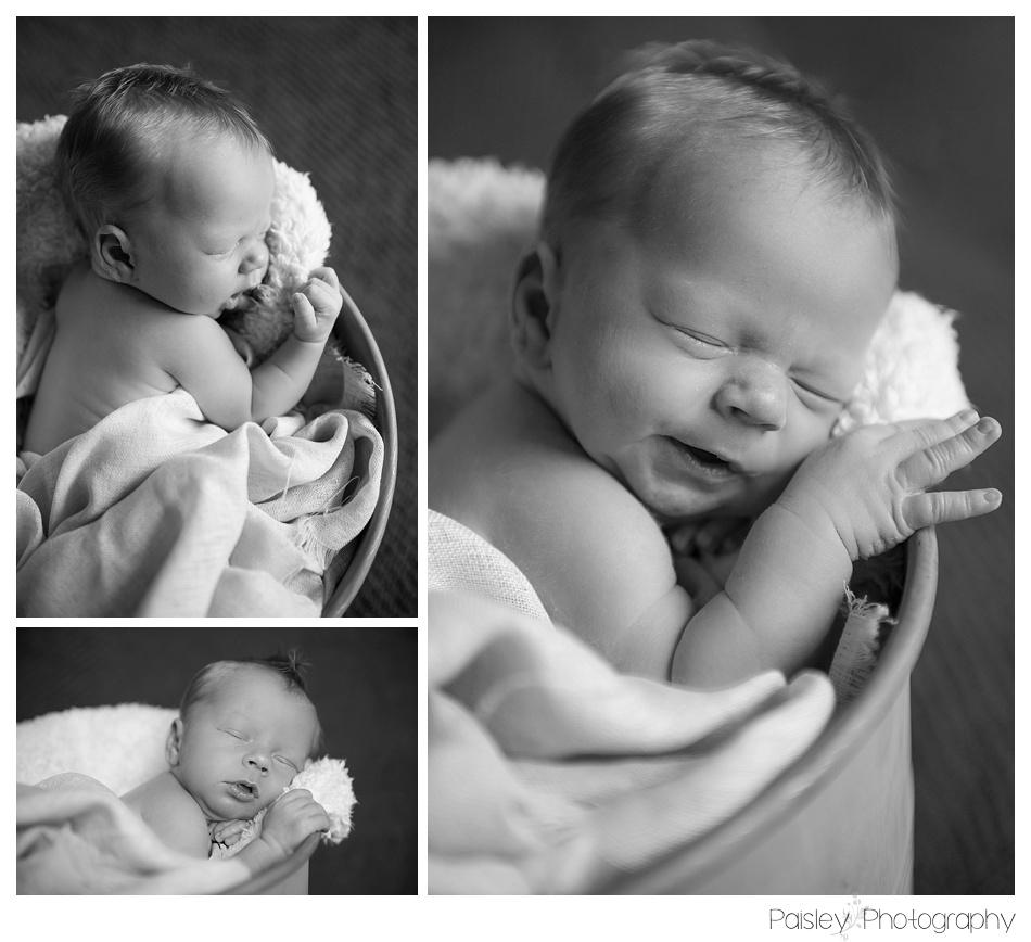 Baby in a Bucket Newborn Photography, Newborn Photography, Newborn Photographer, Calgary Newborn Photographer, Calgary Newborn Photographer, Baby Photos, Baby Photography, Sleeping baby Photos, Newborn Baby Boy Photography
