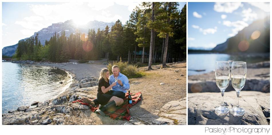 Lake Minnewanka Engagement Session Banff