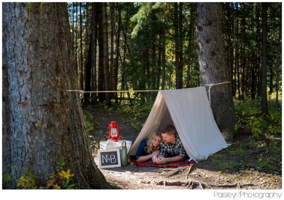 N+B's Camping Themed Engagement ~ Calgary Engagement Photography