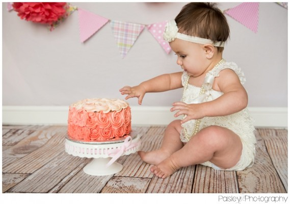 Emily's 1st Birthday Cake Smash ~ Calgary Cake Smash Photography