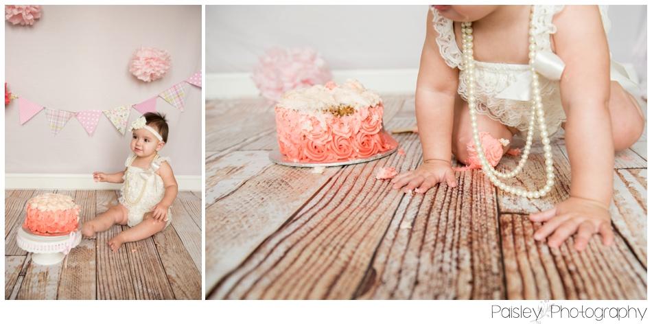 Pink Cake Smash Photography, Calgary Cake Smash Photography, Calgary Cake Smash Photos, Cake Smash Photography, First Birthday Photography, 1st Birthday Cake Smash, 1st Birthday Cake Smash Photography, Calgary Children's Photographer