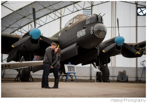 Calgary Aero Space Museum Engagement Photography – R+L's Aviation Engagement