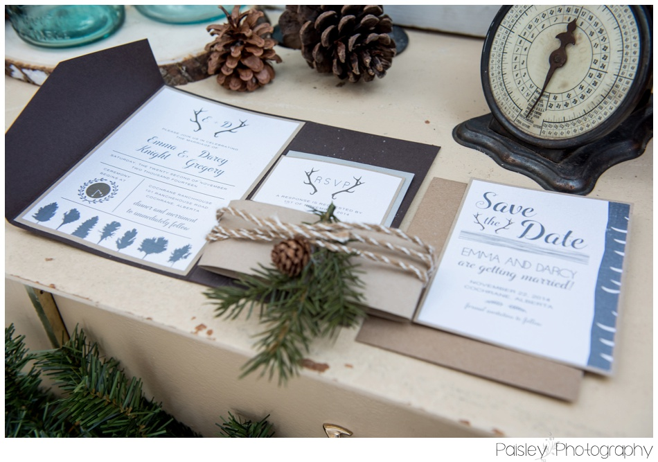 Lovesky Design Inc Invitation, Calgary Winter Wedding, Winter Wedding Photography, WInter Woodland Wedding Calgary, Cochrane Winter Wedding, Okotoks Winter Wedding, Okotoks Winter Wedding Photographer, Calgary Wedding Photography, Woodland Wedding Photos, Forest Wedding Photography,