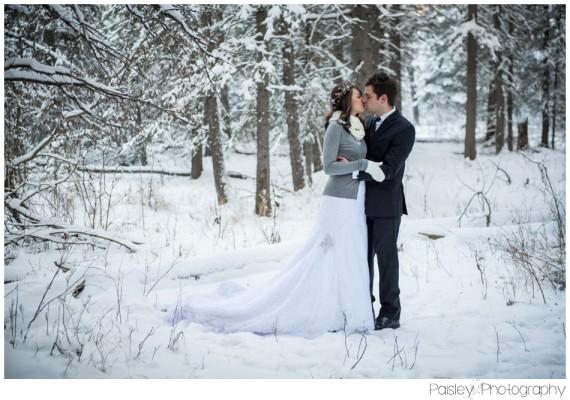 Calgary Wedding Photographers – Winter Woodland Wedding Styled Shoot