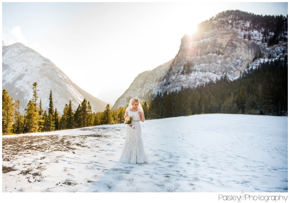 Bridal Portrait, Mountain Bride, Mountain Wedding, Banff Mountain wedding, Banff Wedding Photographer, Banff Photographer, Tunnel Mountain Wedding, Destination Wedding, Destination Wedding Photographer