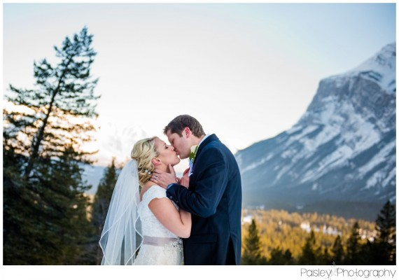 Banff Wedding Photographer- Chris & Jana's Tunnel Mountain Winter Wedding ~