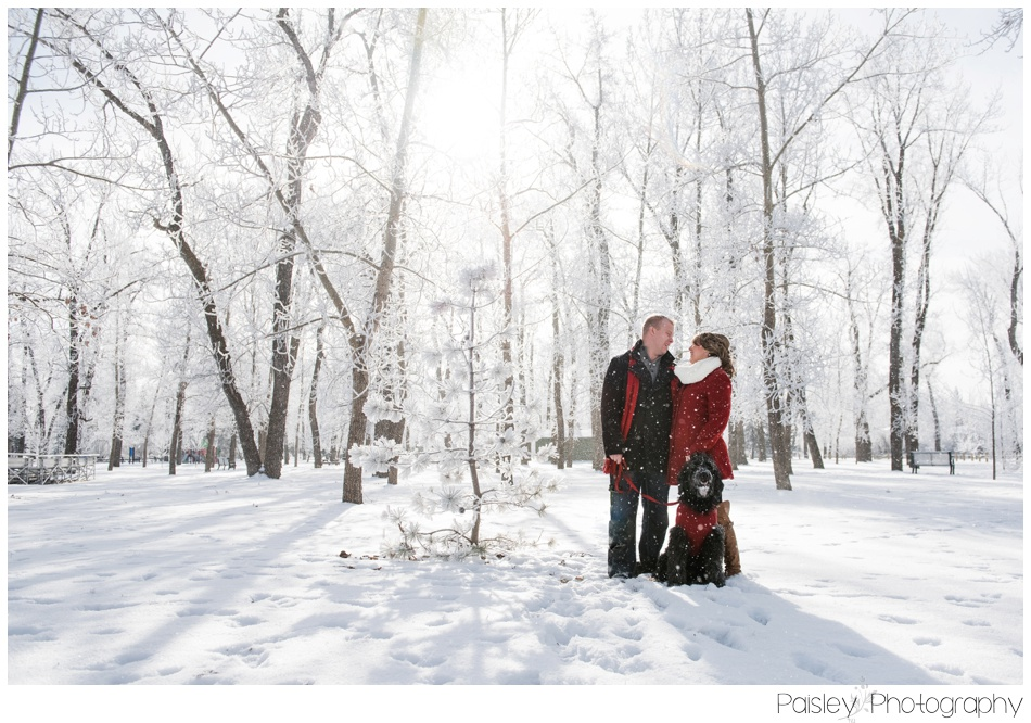 Winter Engagement Photography, High River Engagement Photos, Dog Engagement Photos, Southern Alberta Wedding Photographer, Southern Alberta Engagement Photography, Calgary Wedding Photographer, Winter Engagement, Snowy Engagement Photos, Engagement Photography