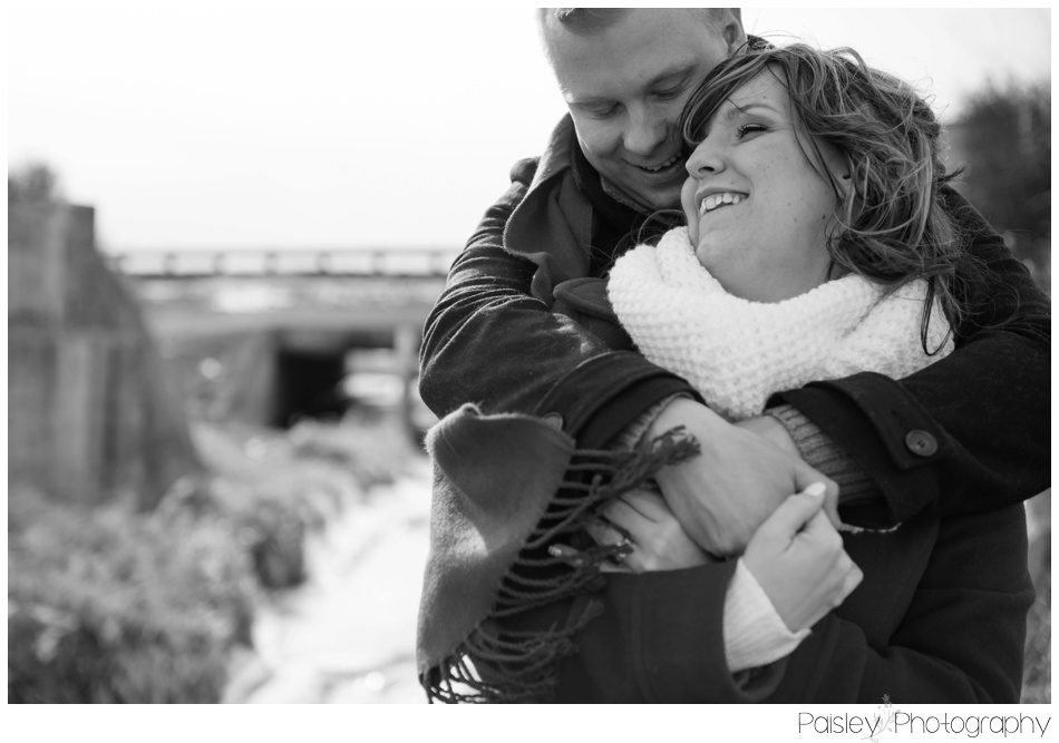 Snowy Winter Engagement Photos Calgary