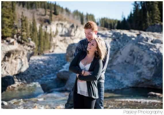 Kyle & Janelle's Elbow Falls Engagement – Kananaskis Engagement Photography