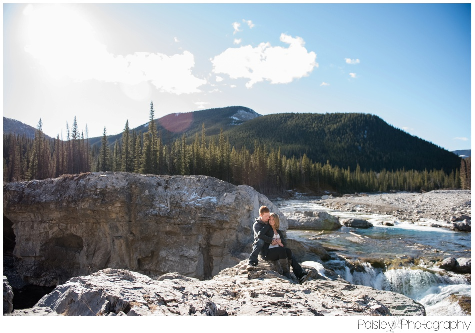 Elbow Falls Engagement Photos