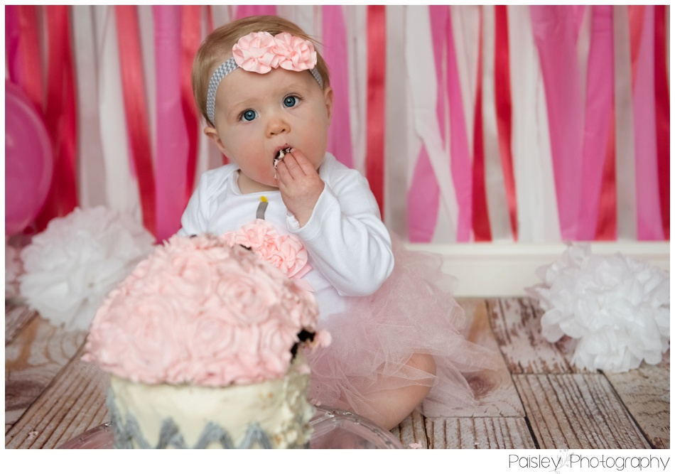 Pink Cake smash Photography, Calgary Cake Smash Photographer, Calgary Cake Smash, Cochrane Cake Smash, Cochrane Cake Smash Photography, Cochrane Cake Smash Photographer,