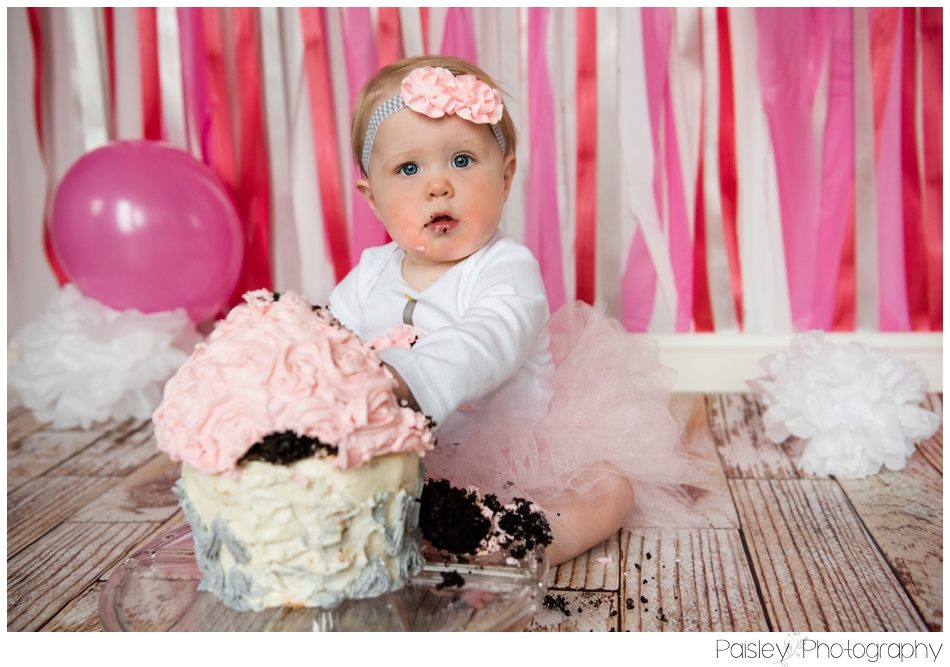 Pink Cake Smash Set up, Calgary Cake Smash Photography, Cakesmash Photos, Calgary Cake Smash, Cake Smash Photography Airdrie, Airdrie Cake Smash Photographer, Cake Smash Studio Calgary