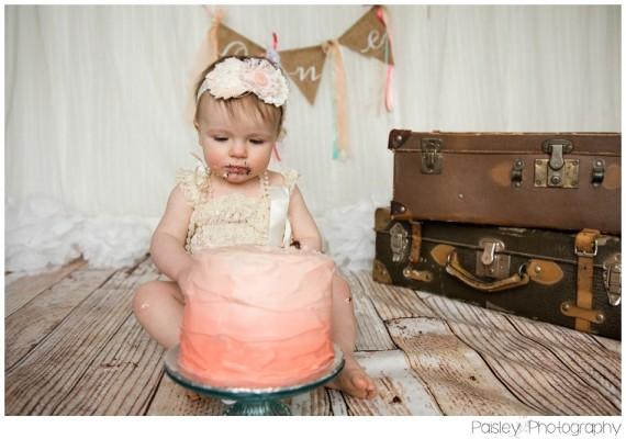 Amelia's Cake Smash ~ Calgary Cake Smash Photographer