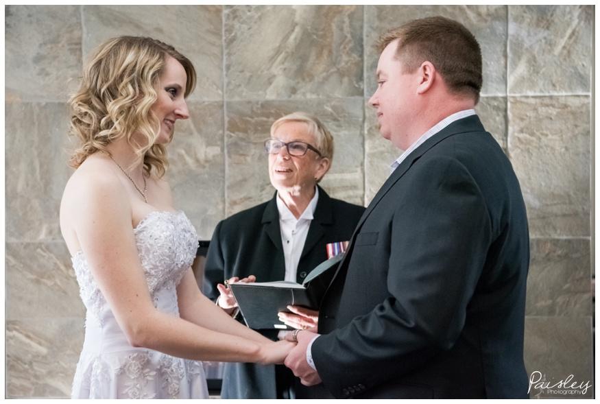 Small Modern Wedding Alberta