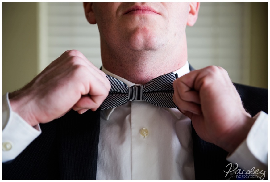 Groom wearing a Bow Tie, Wedding Photography Calgary
