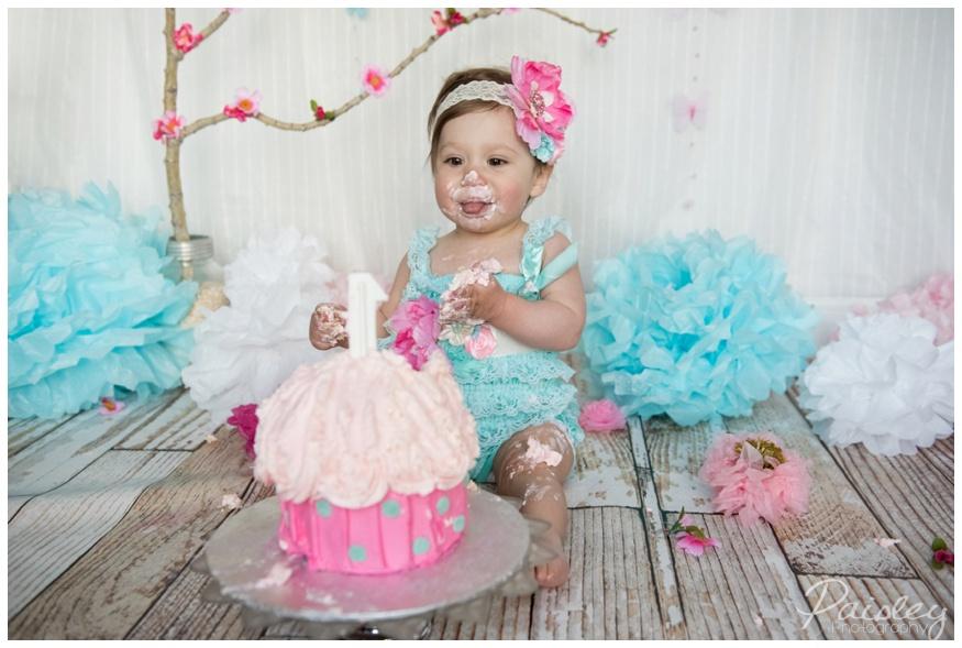 Garden Themed Cake Smash Photography