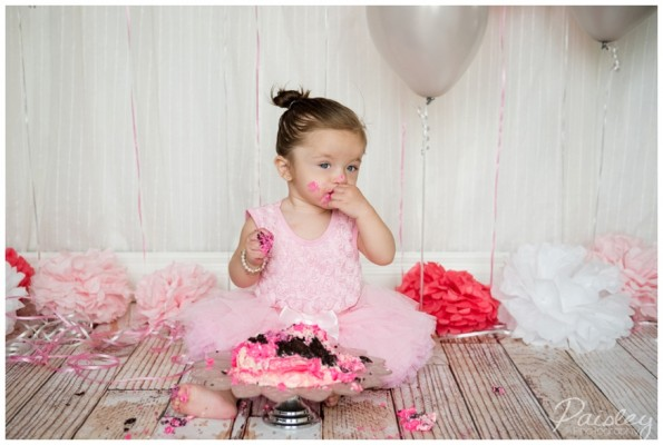 Valentina's First Birthday Cake Smash ~ Calgary Cake Smash Photography
