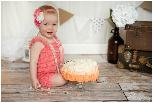 Emma's 1st Birthday Cake Smash ~ Calgary Cake Smash Photography