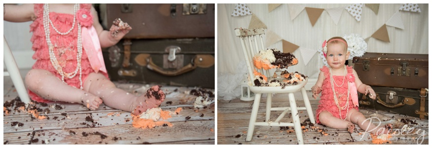Shabby Chic Cake Smash Photography