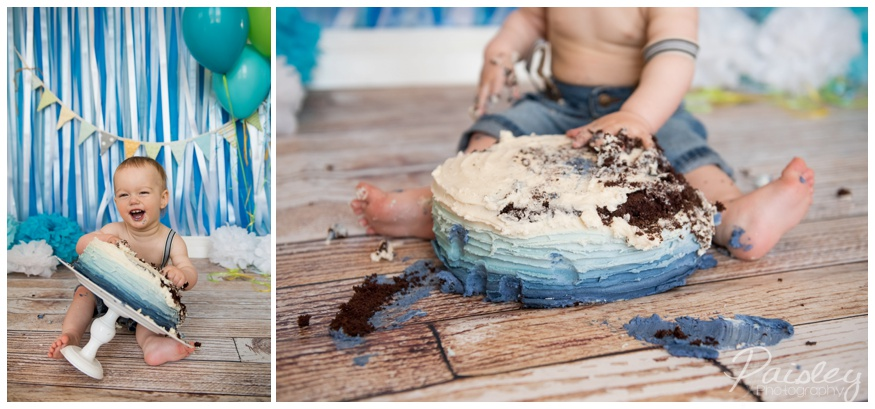One Year Old Boy Cake Smash Photos
