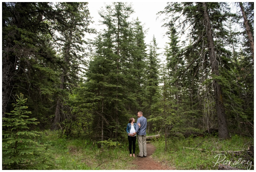 Calgary Forest maternity Photography