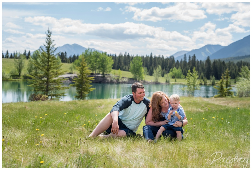 Canmore Quarry lake Family Photography
