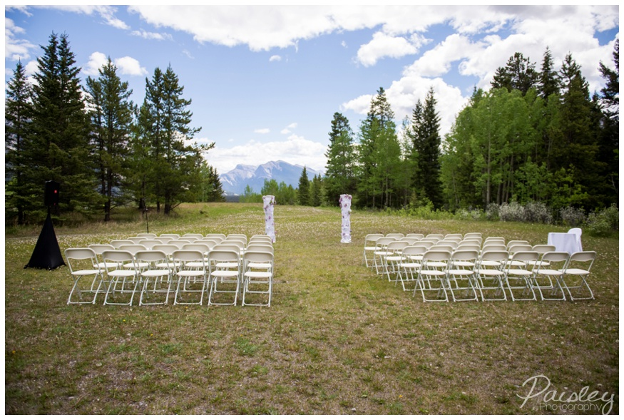 Rundle View Park Canmore Wedding Ceremony