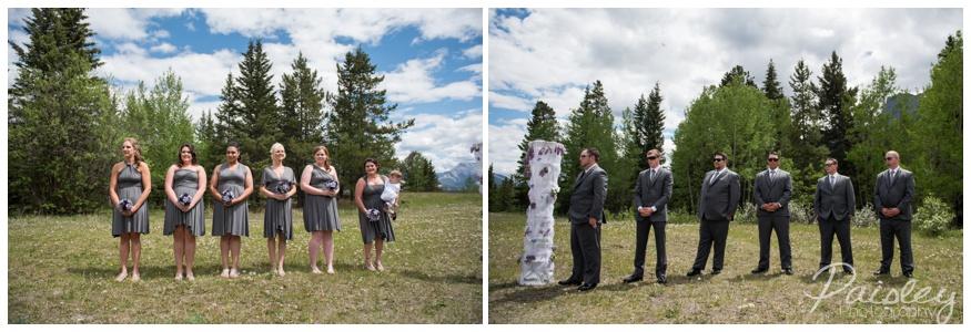 Grey & Silver Outdoor Wedding Ceremony