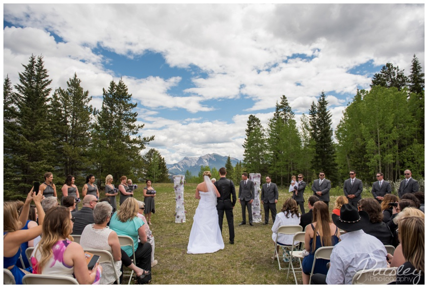 Rundle View Park Canmore Wedding
