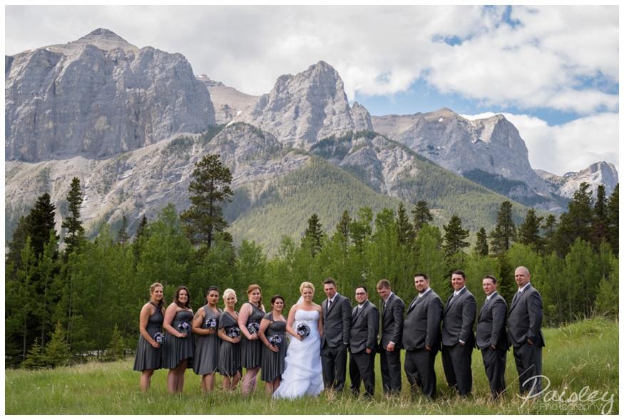 Canmore Wedding Party Photos