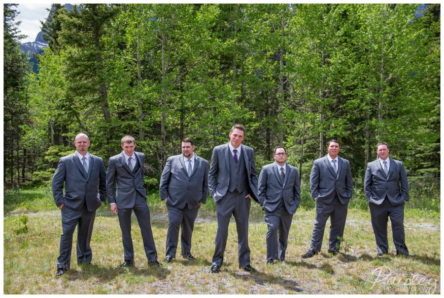 Groomsmen Wedding Photography Canmore