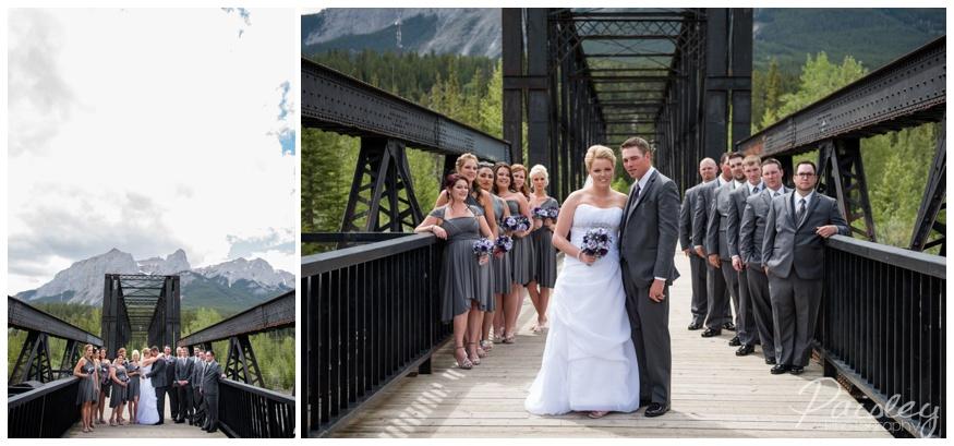 Engine Bridge Canmore Wedding Photos