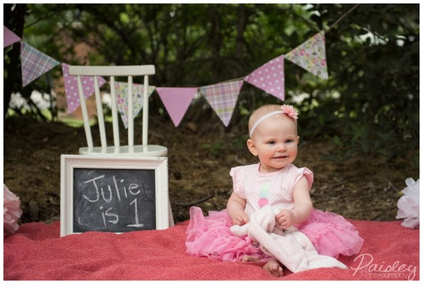 Julie Rose's First Birthday Cake Smash ~ Cochrane Cake Smash Photography
