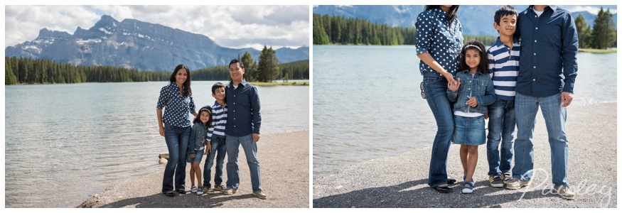 Two Jack Lake Banff Alberta Family Photographer