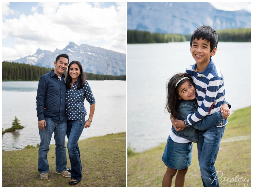 Two Jack Lake Banff Family Photographer