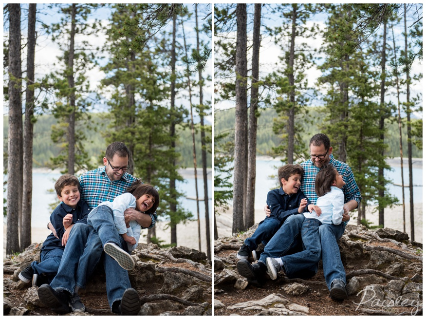 Dad & Son Family Photography Banff