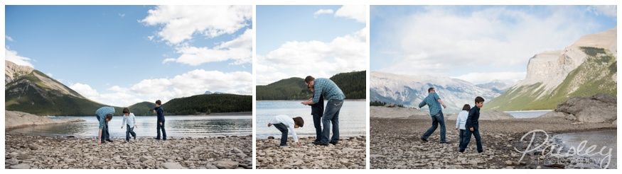 Skipping Stone on Lake Minnewanka, Banff Alberta