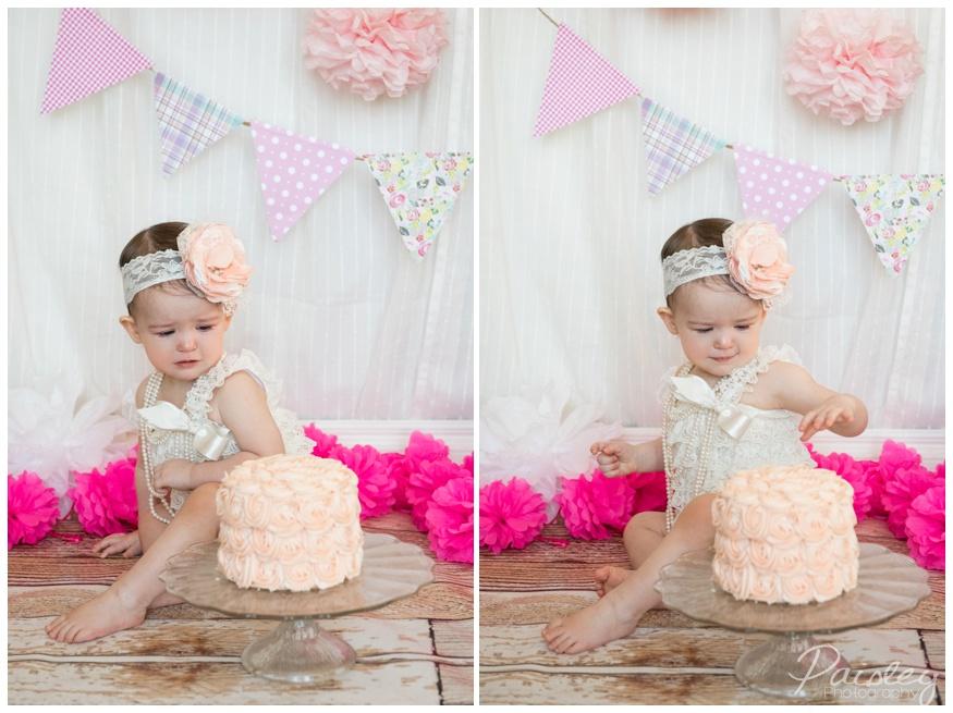 Pink Cake Smash Photography Calgary