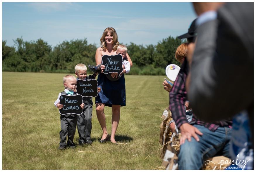 Farm Wedding Ceremony Calgary Alberta