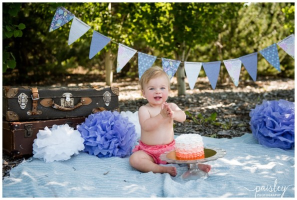 Calgary Outdoor Cake Smash Photography ~ Alenna is One!