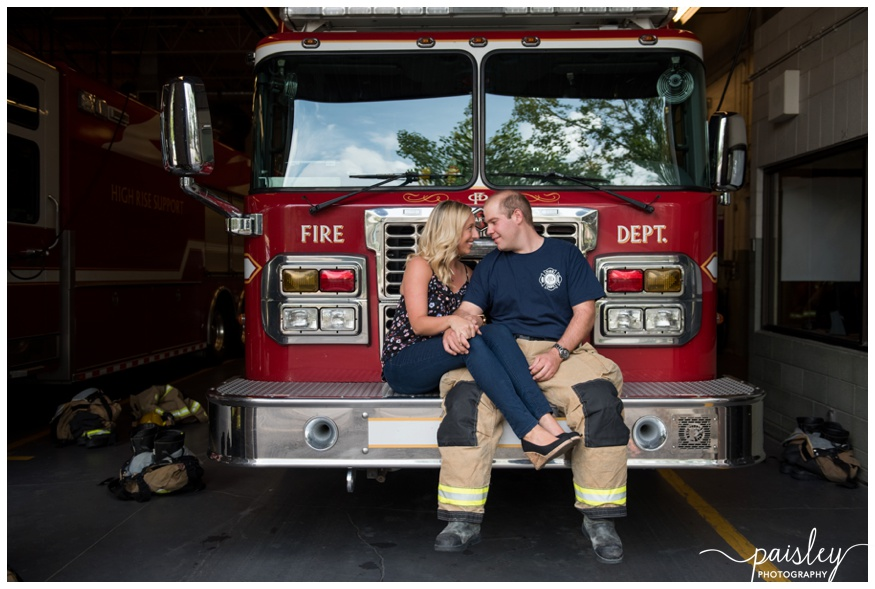 Fire Hall Engagement Photography Calgary